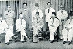 CMSF Committee of Management 1951. Seated (L-R): A.M.A. Azeez (Chairman), M.A. Samsoodeen (O.A), S.M.A. Raheeman (President BoT), M.A. Careem (Secretary) & M. Mathany Ismail. Standing (L-R): M.H.S. Marikar, M. Rafeek, A.J.M. Jameel, M.H.M. Naina Marikar & Dr. A.R.M. Waffarn.