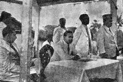 Mayor of Colombo, R.F.S. de Mel inaugurating the First Ramazan         Appeal in 1945